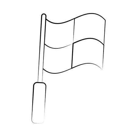 forme: flag with squares icon image vector illustration design  black sketch line