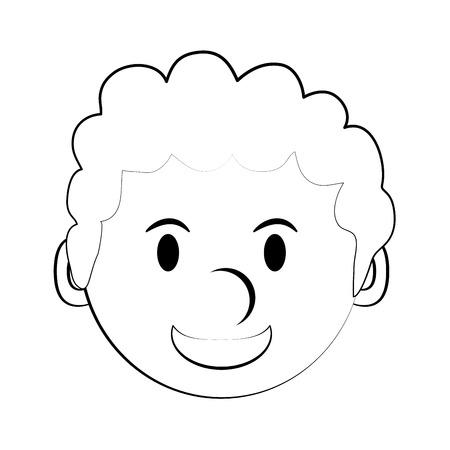 forme: happy man smiling cartoon icon image vector illustration design  black sketch line