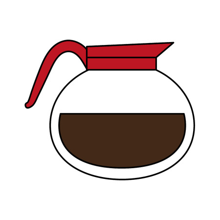 A kettle coffee beverage icon image vector illustration design