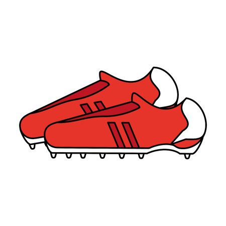 forme: A cleats shoes football soccer icon image vector illustration design