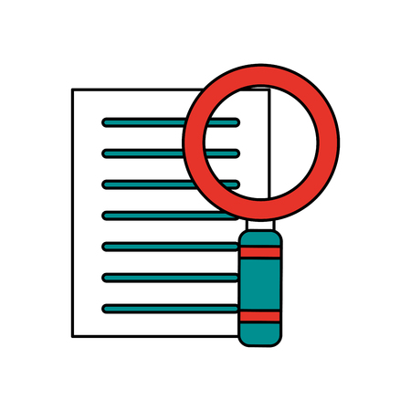 forme: magnfying glass search on document icon image vector illustration design