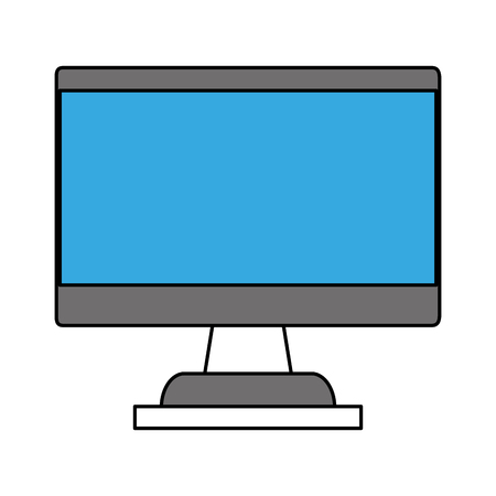 forme: computer monitor with blank screen icon image vector illustration design