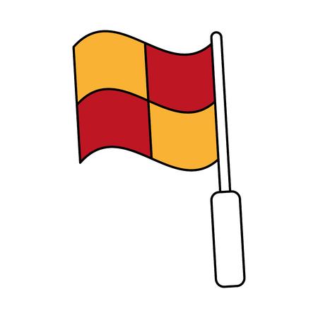 forme: flag with squares icon image vector illustration design Illustration