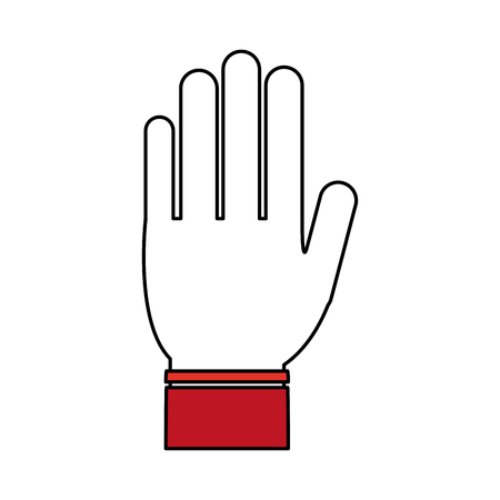 onderwijs: open hand icon image vector illustration design