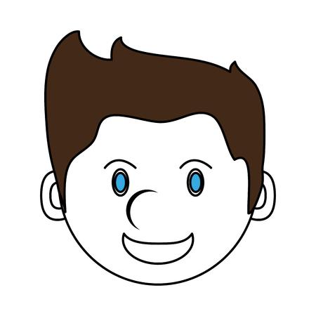 forme: happy man smiling cartoon icon image vector illustration design