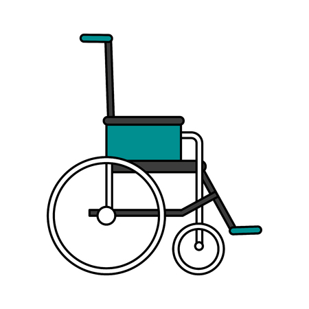 insured: wheelchair healthcare icon image vector illustration design