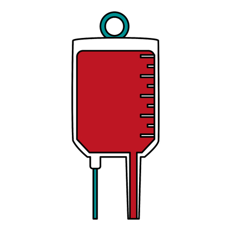 iv bag with blood icon image vector illustration design