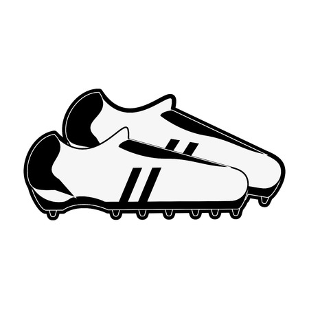 forme: cleats shoe football or soccer related icon image vector illustration design