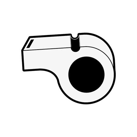 fitness equipment: blow whistle icon image vector illustration design