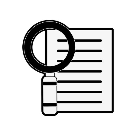 forme: magnifying glass examining document icon image vector illustration design