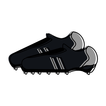 cleats shoe football or soccer related icon image vector illustration design
