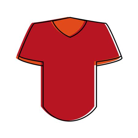 Camisa azul con emblema en la ilustración del vector del icono del diseño de la imagen del pecho Foto de archivo - 87449338