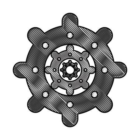power: Gear machinery piece icon vector illustration graphic design