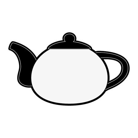 kettle tea beverage icon image vector illustration design Illustration
