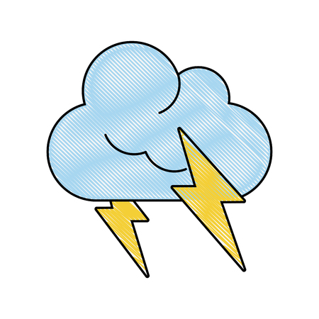 forme: Clouds and rains weather icon vector illustration graphic design Illustration