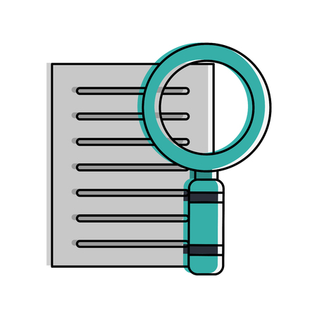 forme: magnifying glass examining document icon.