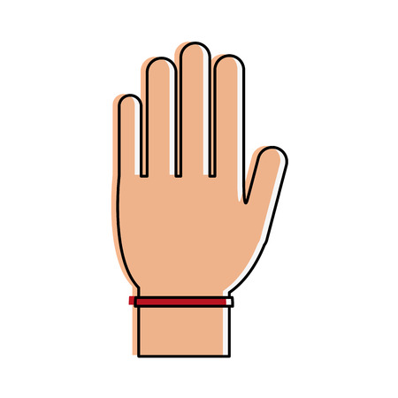 forme: Hand with palm open icon vector illustration graphic design Illustration