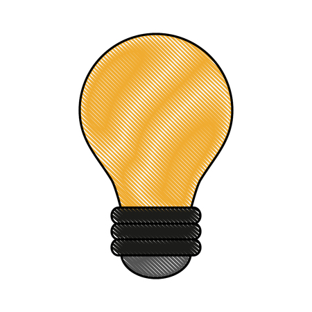 power: Bulb light year icon vector illustration graphic design