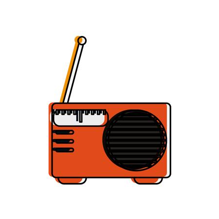fm: small radio with antenna icon image vector illustration design Illustration