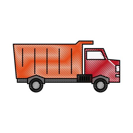 power: Cargo truck vehicle icon vector illustration graphic design Illustration