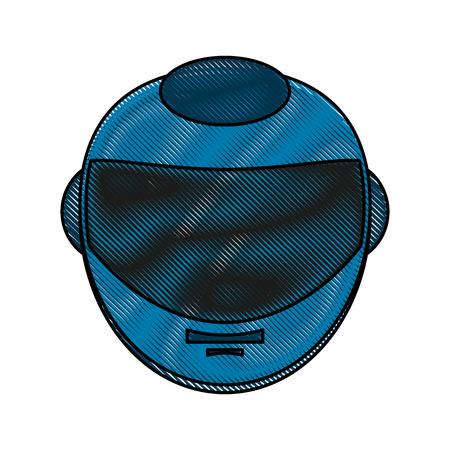 head protection: Pilot Race helmet icon vector illustration graphic design Illustration