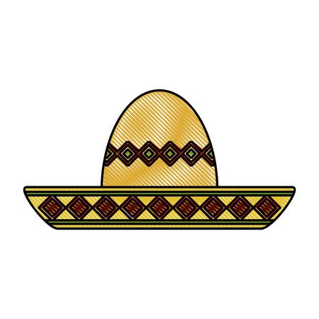 Mariachi mexican hat icon vector illustration graphic design