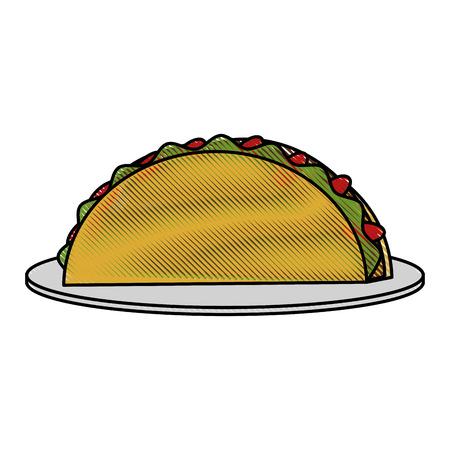 chili sauce: Burritos mexican food icon vector illustration graphic design