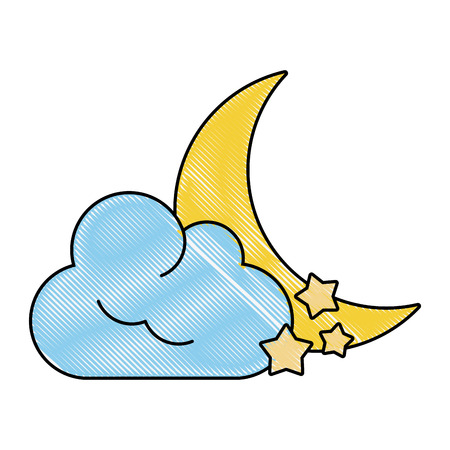 space: Moon and stars icon.