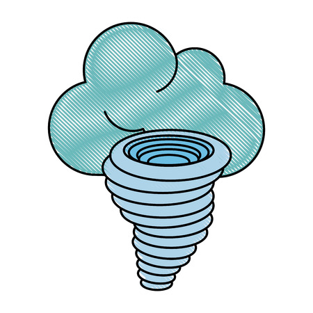 power: Tornado weather disaster icon vector illustration graphic design