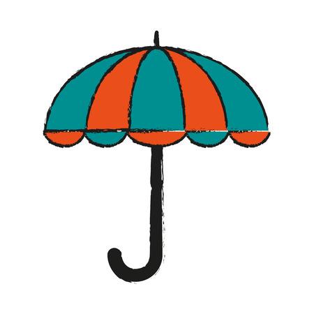 accessory: Umbrella weather symbol icon vector illustration graphic design