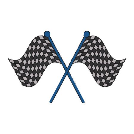 Racing flags symbol icon vector illustration graphic design