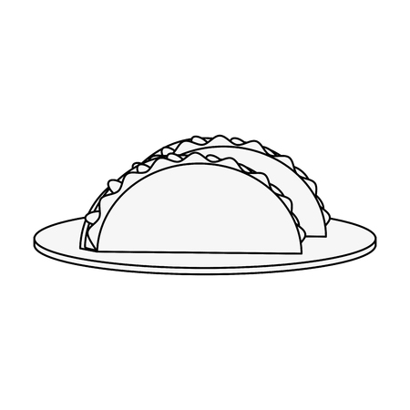 Burritos mexican food icon vector illustration graphic design