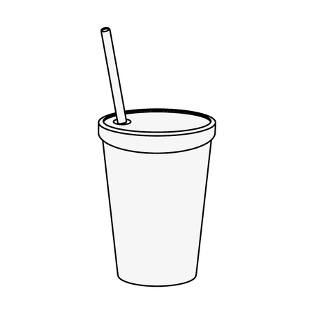 tin packaging: Soda plastic cup icon vector illustration graphic design
