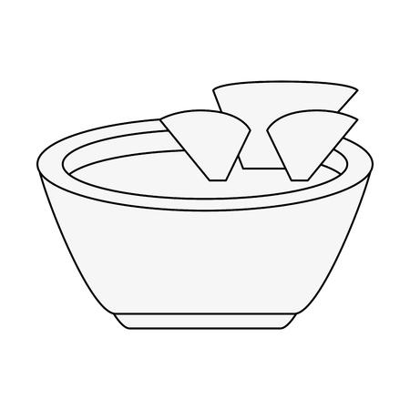 forme: Nachos mexican food icon vector illustration graphic design