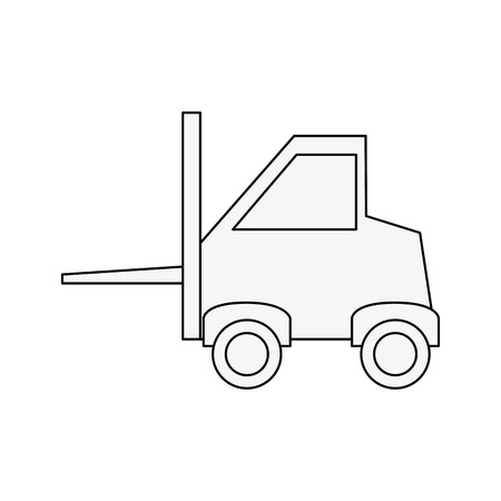 power: Forklift cargo vehicle icon vector illustration graphic design Illustration