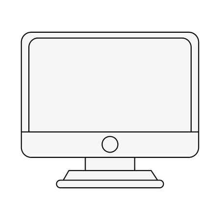 device: Pc monitor screen icon vector illustration graphic design Illustration