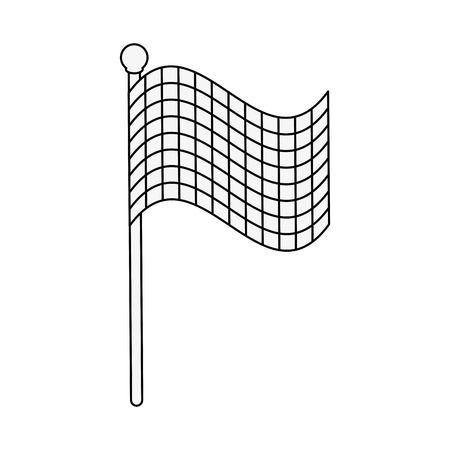 forme: Racing flag symbol icon vector illustration graphic design Illustration