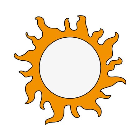 sun energy: Sun isolated symbol icon vector illustration graphic design