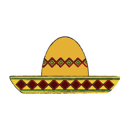 traje mexicano: Mariachi mexican hat icon vector illustration graphic design