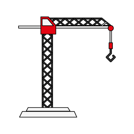 heavy industry: Construction crane with hook icon vector illustration graphic design Illustration