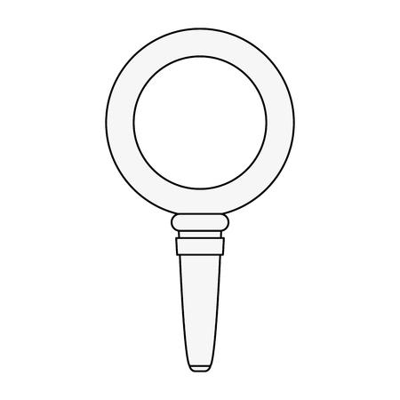forme: Magnifying glass symbol icon vector illustration graphic design