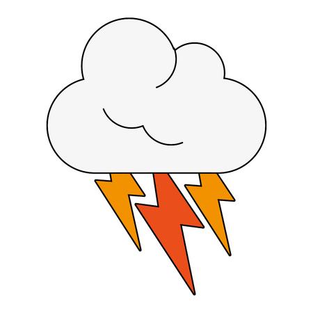 forme: Cloud weather symbol icon vector illustration graphic design