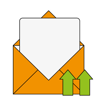 Email upload document icon vector illustration graphic design