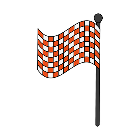 Racing flag symbol icon vector illustration graphic design Illustration