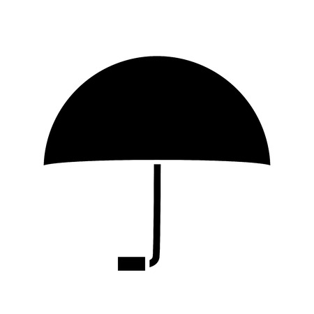 accessory: Umbrella weather protection icon vector illustration graphic design