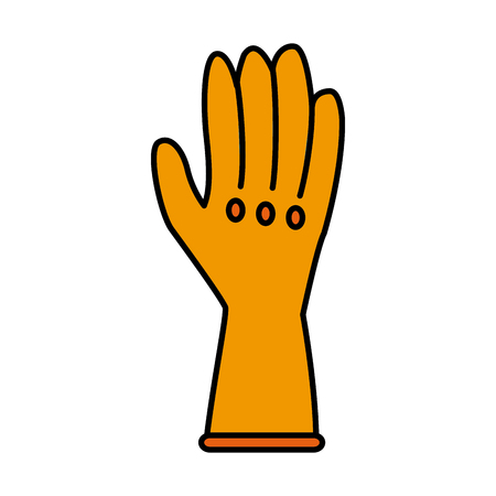 Cleaning glove isolated icon vector illustration graphic design
