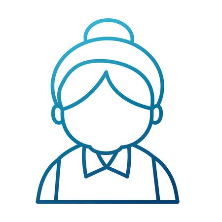 illustration: Cute grandmother cartoon icon vector illustration graphic design