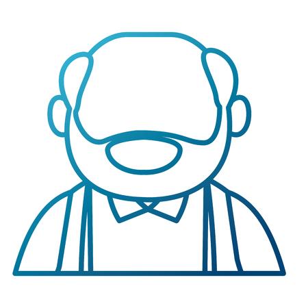 illustration: Cute grandfather cartoon icon vector illustration graphic design Illustration