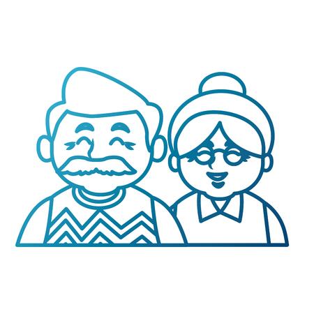 illustration: Cute grandparents couple cartoon icon vector illustration graphic design