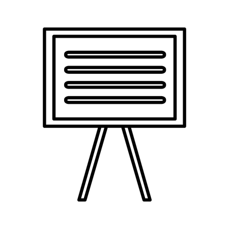 onderwijs: Blackboard education isolated icon vector illustration graphic design